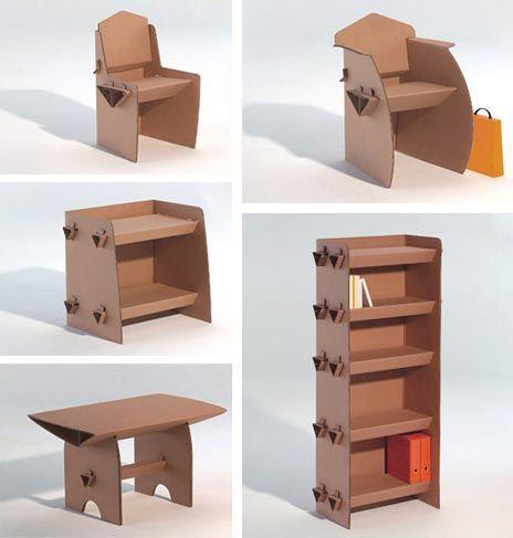 Mobiliário em cartão | Wood Second Chance