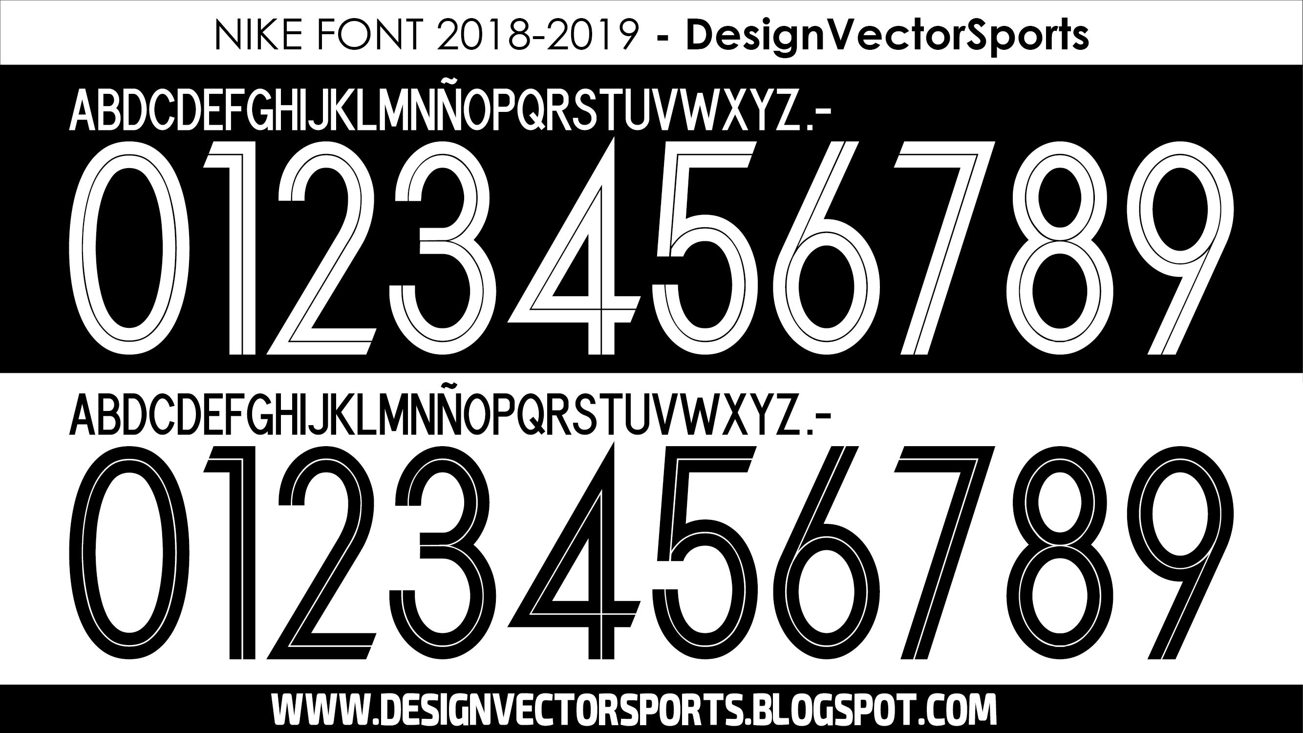 élite recibo Gracias  https://designvectorsports.blogspot.com/2018/06/nike-font-2018-2019.html |  Fuentes deportivas, Tipografía números, Fuentes