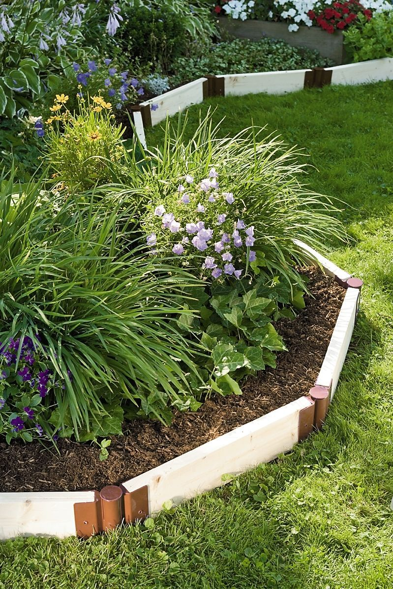 Stackable corner joints for raised beds - Cheap flower bed ideas ...