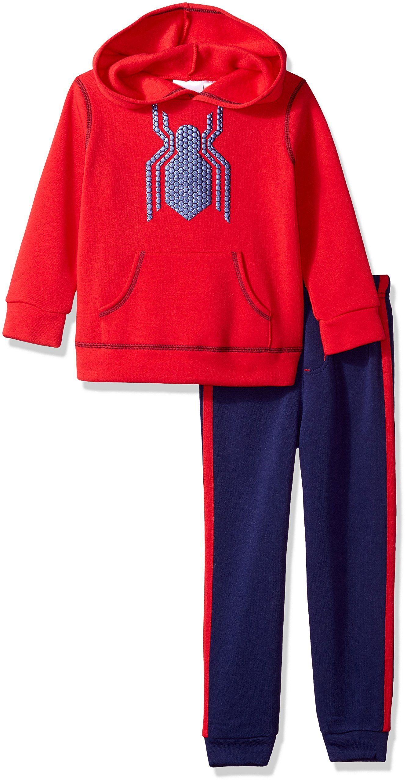 Marvel toddler boys spiderman piece hoodie and pant set red t