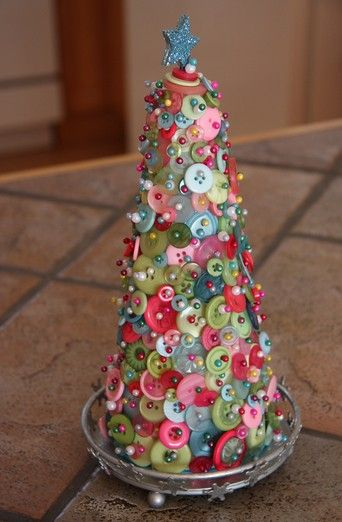 Simple handmade Christmas craft I really like this I want to make