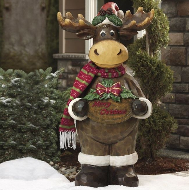 christmas decoration moose xmas indoor outdoor greeting festive funny