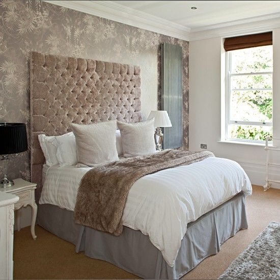 Bedroom colour palette dusty pink, grey, taupe, white. by