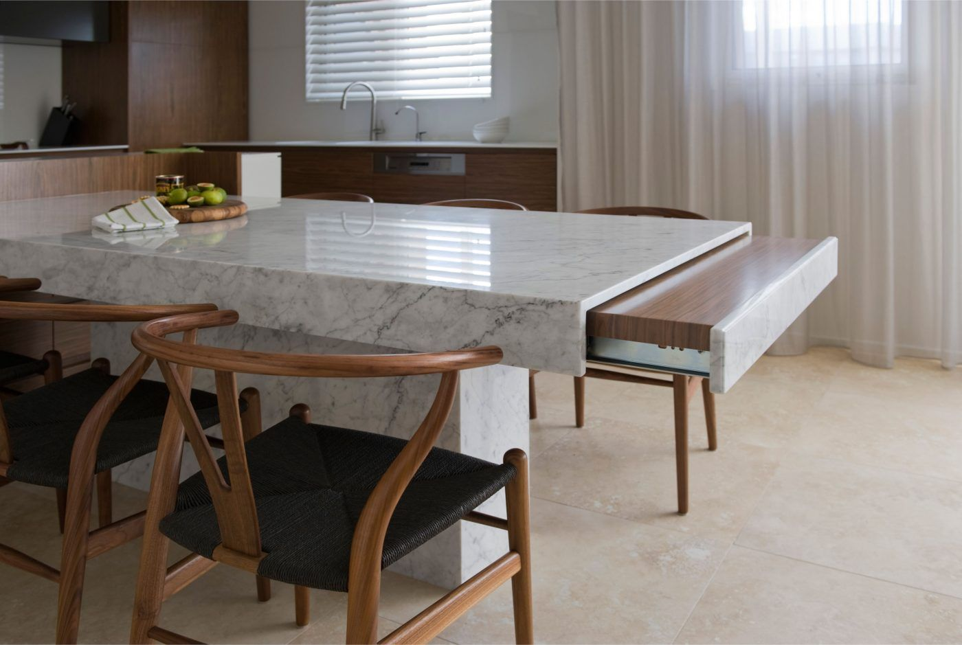 dee20c1ed1c28 rectangle white granite dining table with storage combined brown room  wooden chairs black seat ceramics flooring amazing top modern looks for  furniture hire ...
