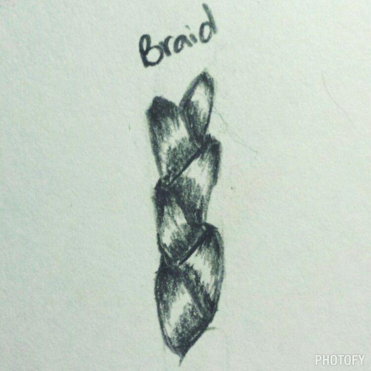 Sketch: braided hair