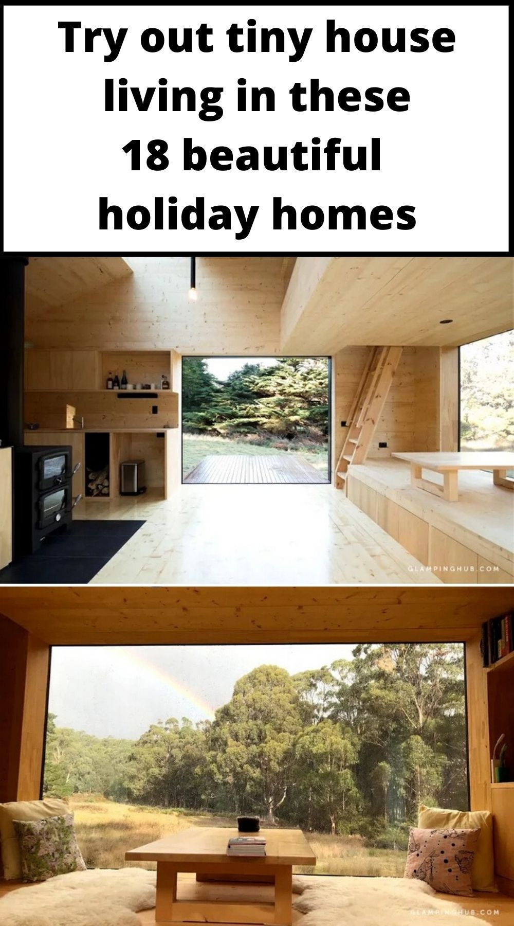 Try Out Tiny House Living In These 18 Beautiful Holiday Homes Living In A Shoebox In 2020 Tiny House Living Small Modern Cabin Tiny House Trailer