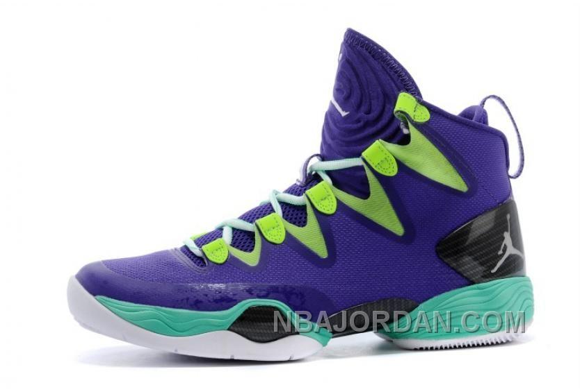 "7c9ace859df3bb Air Jordan SE ""Mardi Gras"" Russell Westbrook PE Court Purple Black-Flash  Lime-New Green"