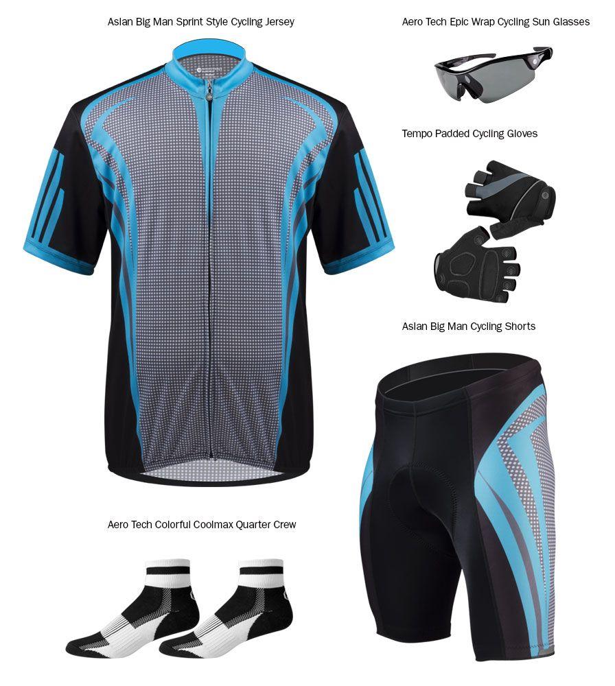 02b70d881 Aero Tech BIG Men s AeroDri Colossal Loose Fit Cycling Jersey