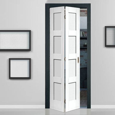 Shaker White Primed 4 Panel Bifold Door