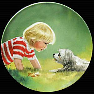 Making Friends: Children & Pets Zolan Plate Pemberton
