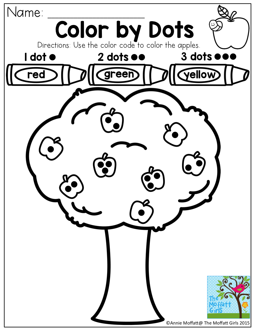 Number Sense! Color by Dots! Great for number counting and