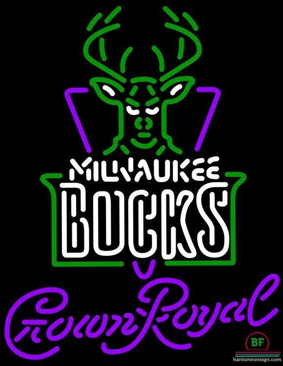 Crown Royal Milwaukee Bucks Neon Sign NBA Teams Neon Light