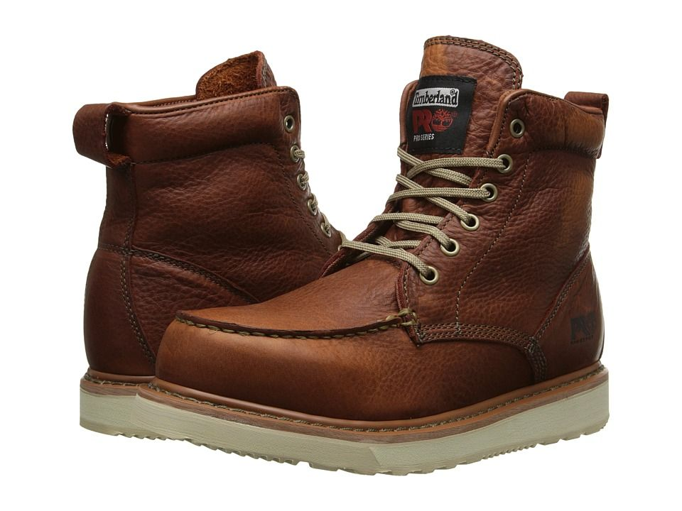Timberland Mens Work Boots Brown Full-Grain