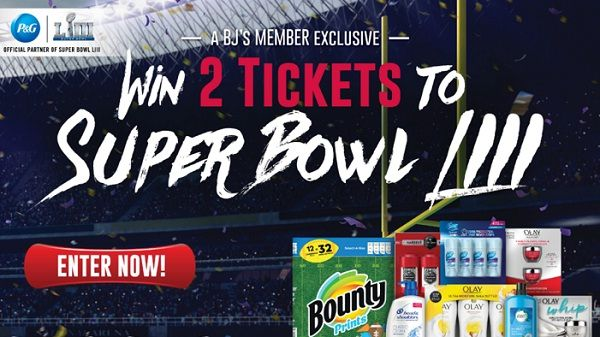 b61f550548a pgfootballsweeps.com  Win Super Bowl LIII Ticket +  4000 Gift Card From P G!
