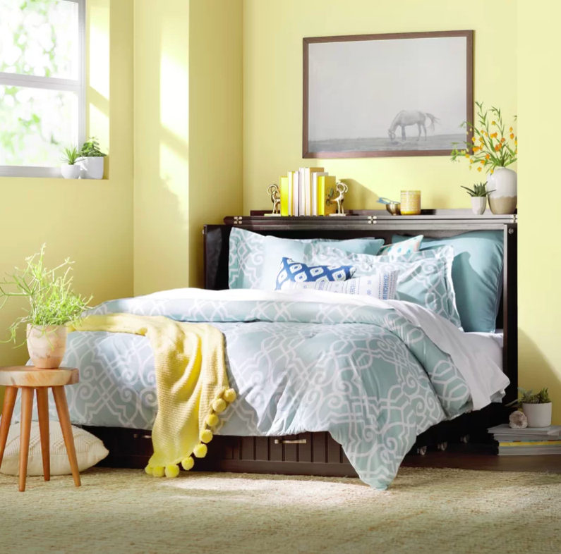 Graham Queen Storage Murphy Bed with Mattress Adjustable