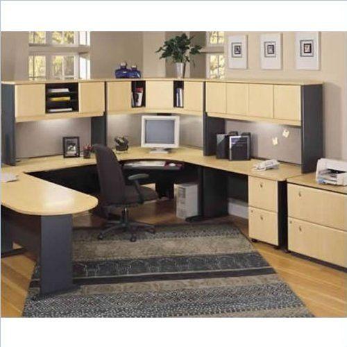 Bush Furniture Beech and Grey Advantage U Shaped Corner Desk fice