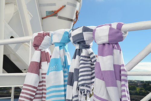 Hammam Turkish Towel - Quick-drying - Super absorbent - Authentic 100% Turkish Cotton - recommended for Travellers and Sports. Multi-purpose for bath, beach, sports, gym, yoga, scarf, sarong