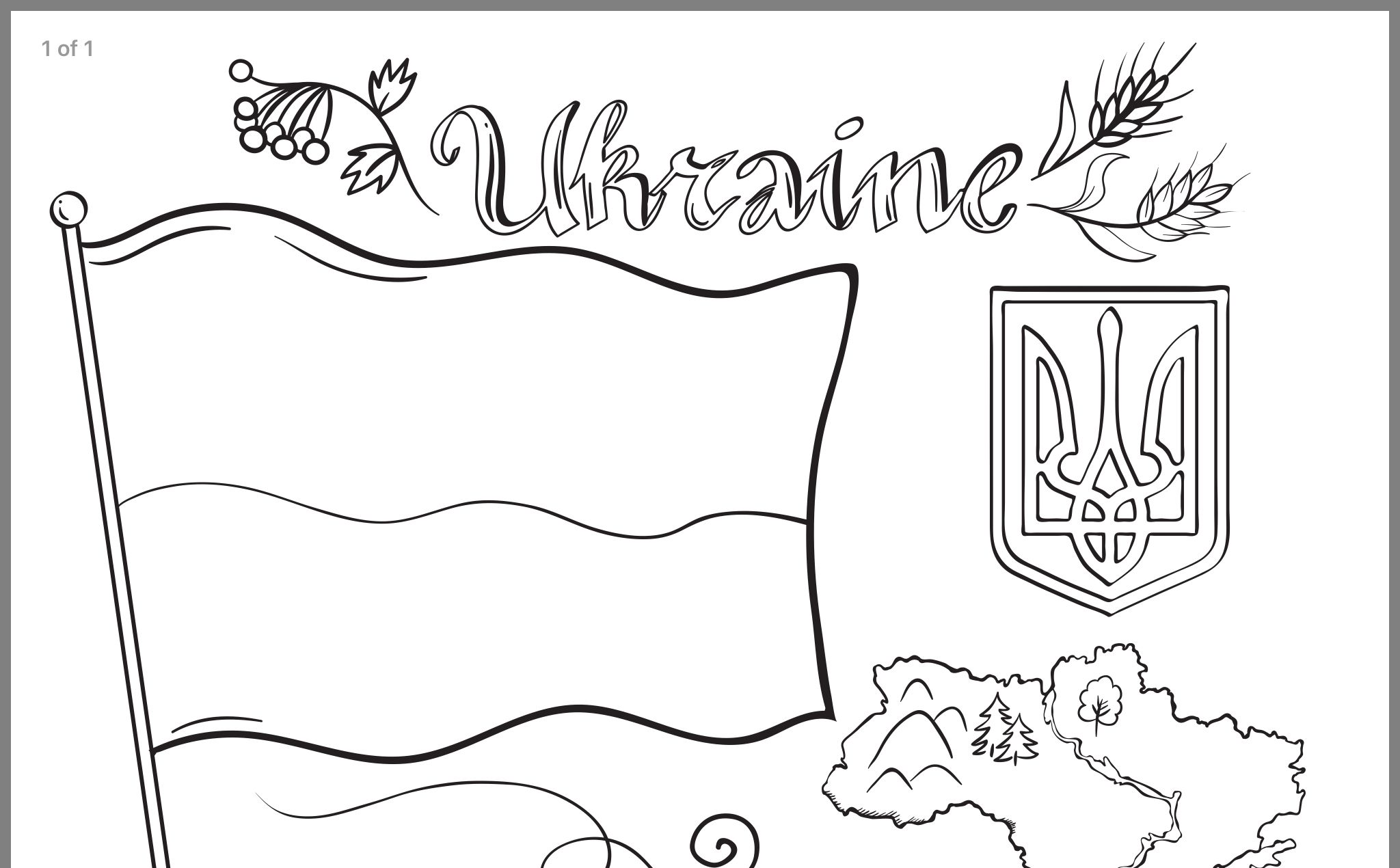Pin By Lilyasia On Ukrainian Flag Coloring Pages Coloring Pages Free Printable Coloring Pages