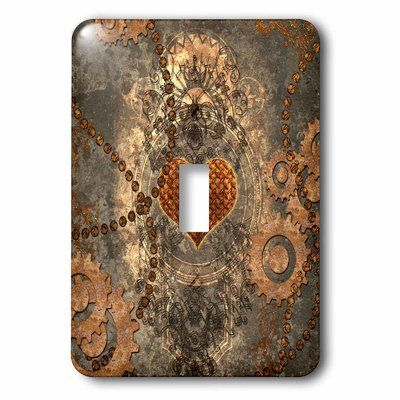 3drose Heart And Gears 1 Gang Toggle Light Switch Wall Plate Plates On Wall Toggle Light Switch Light Switch