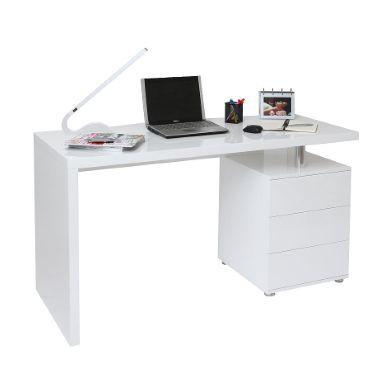 Bureau Design Blanc Laque 3 Tiroirs Calix Miliboo 312 Bureau Design Bureau Meuble Bureau