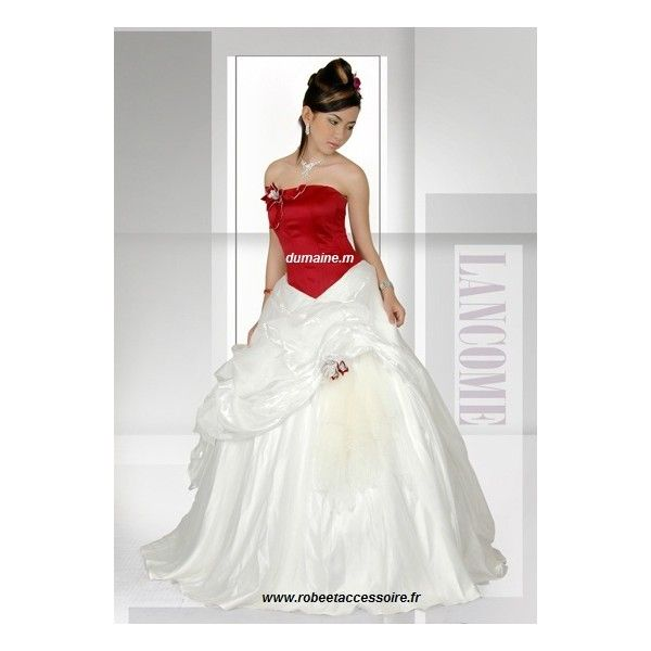 Robe bustier blanc et rouge