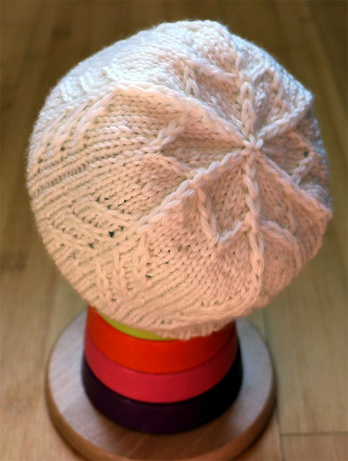 Free Knitting Pattern for Snowflake Baby Hat - The Avalanche beanie ...