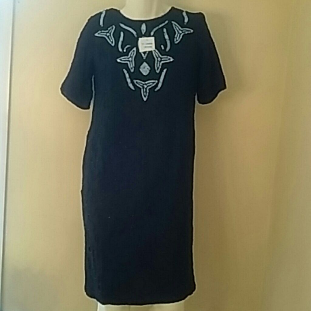 Women black sequin dress size x nwt black sequin dress and products