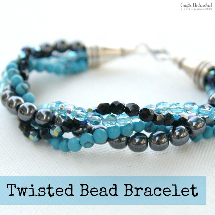 How To Make a Bracelet With Twisted Bead Strands | Beading and ...