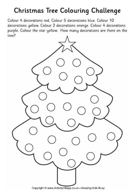 Christmas Tree Colouring Challenge 2 Christmas Tree Coloring Page Tree Coloring Page Christmas Coloring Pages