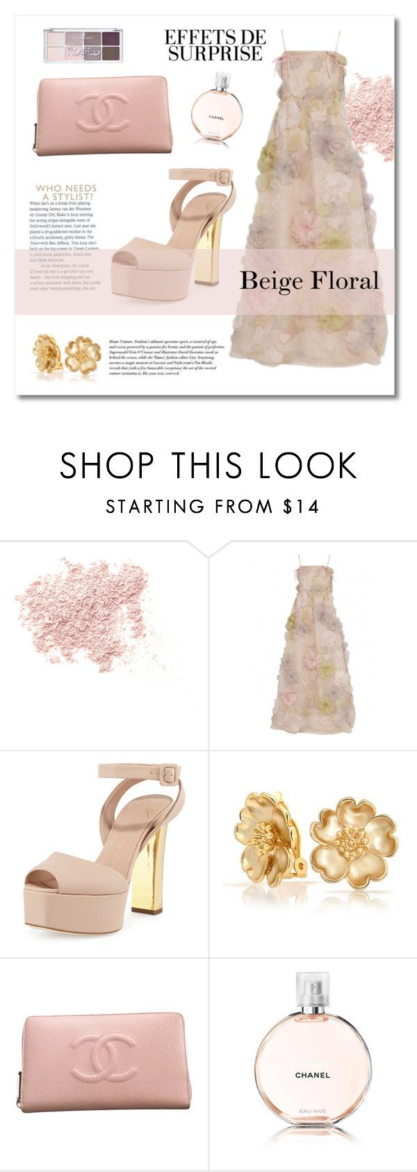 """""""Sin título #810"""" by meelstyle ❤ liked on Polyvore featuring Bare Escentuals, Valentino, Giuseppe Zanotti, Bling Jewelry and Chanel"""