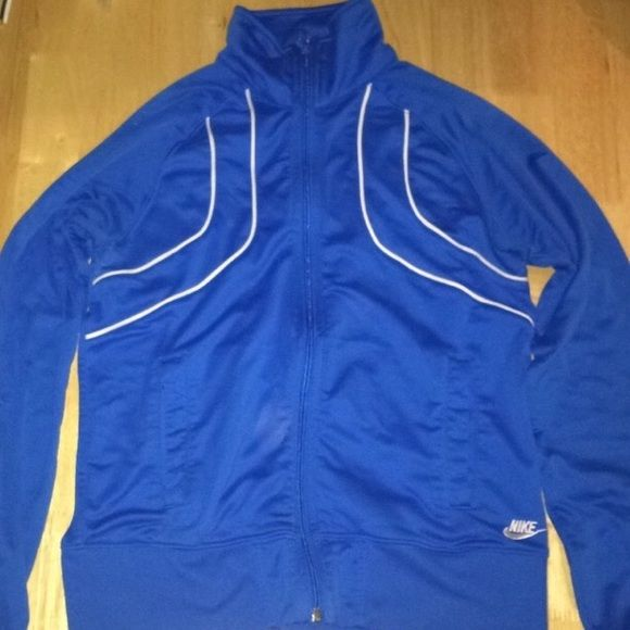Nike Zip Up Blue Nike zip up in small. Basically brand new worn a couple times Nike Tops Sweatshirts & Hoodies