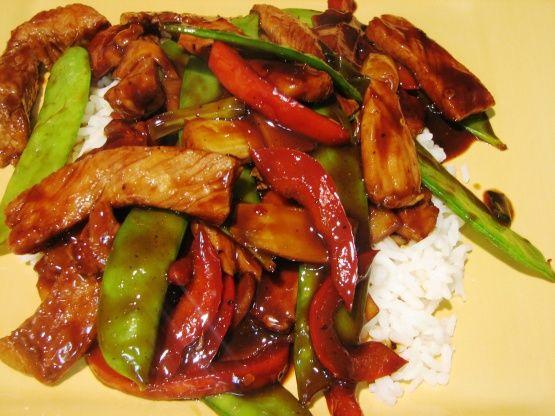 Teriyaki Pork Stir Fry Recipe Food Com Pork Stir Fry Recipes Leftover Pork Leftovers Recipes