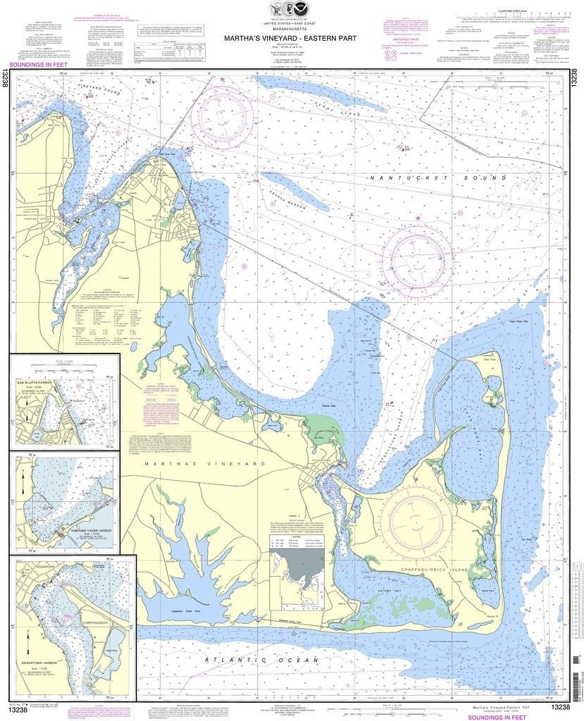 NOAA Nautical Chart Marthaus Vineyard Eastern PartOak Bluffs