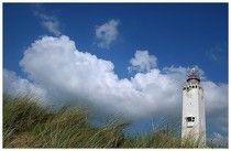 Vuurtoren Noordwijk helm en wolken