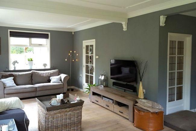 Afbeeldingsresultaat voor voorbeelden muurverf woonkamer ...