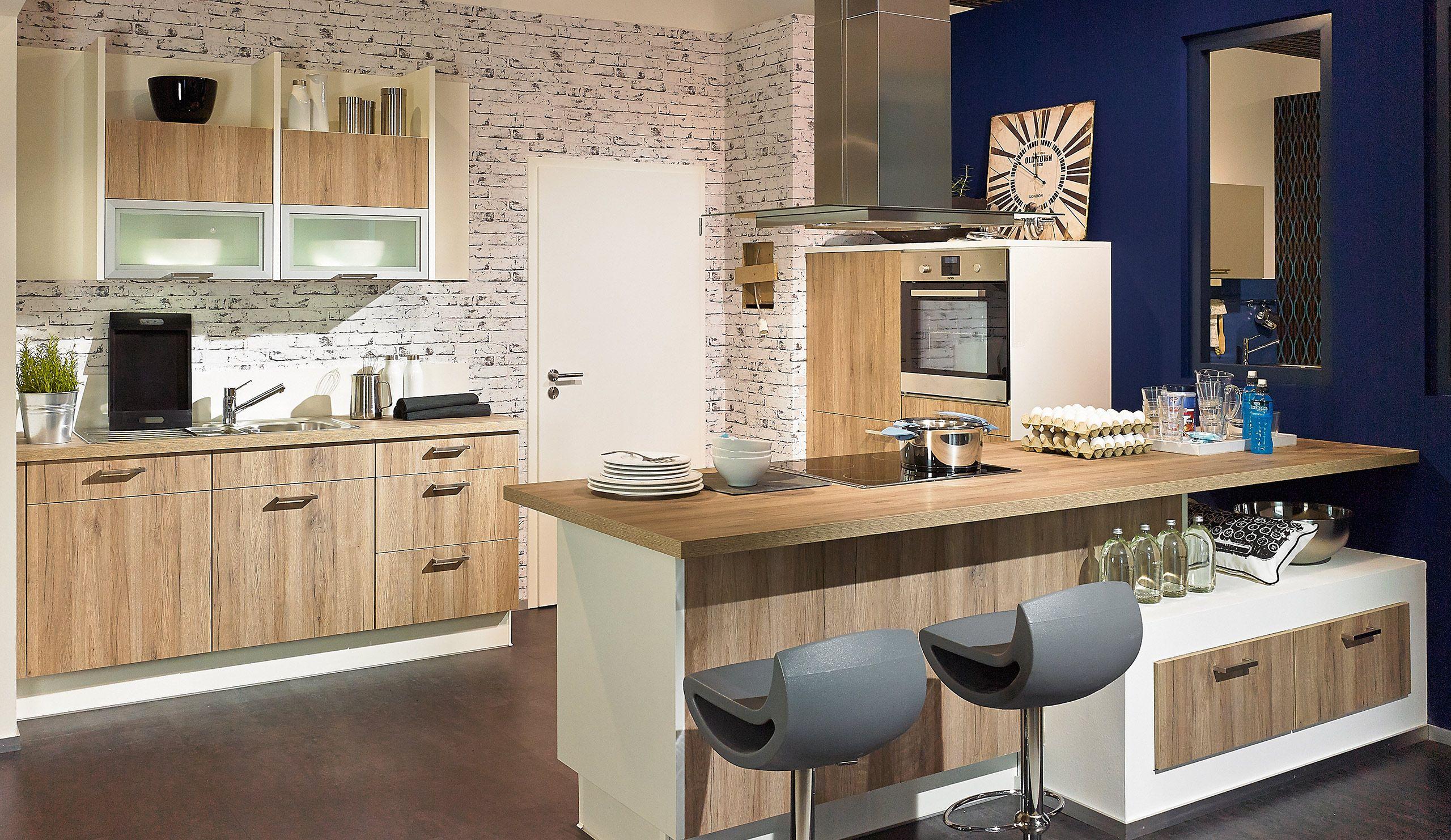 pura0080 einbauküche sanremo eiche  einbauküche moderne