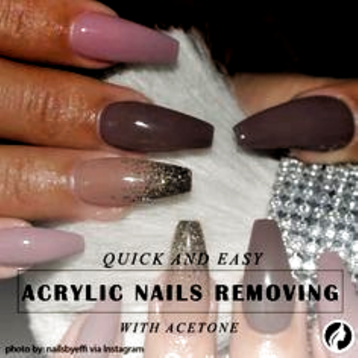 Fast And Safe Acrylic Nail Removal At Home Without Damage You Can Do It With Floss With Hot Water Wi In 2020 Remove Acrylic Nails Take Off Acrylic Nails Acrylic Nails