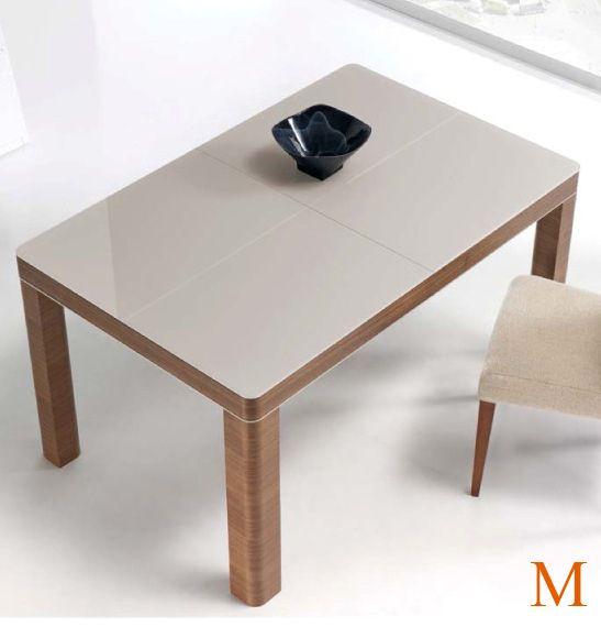 Mesa de comedor 160 x 90 cm. extensible 230 cm. tapa en chapa ...