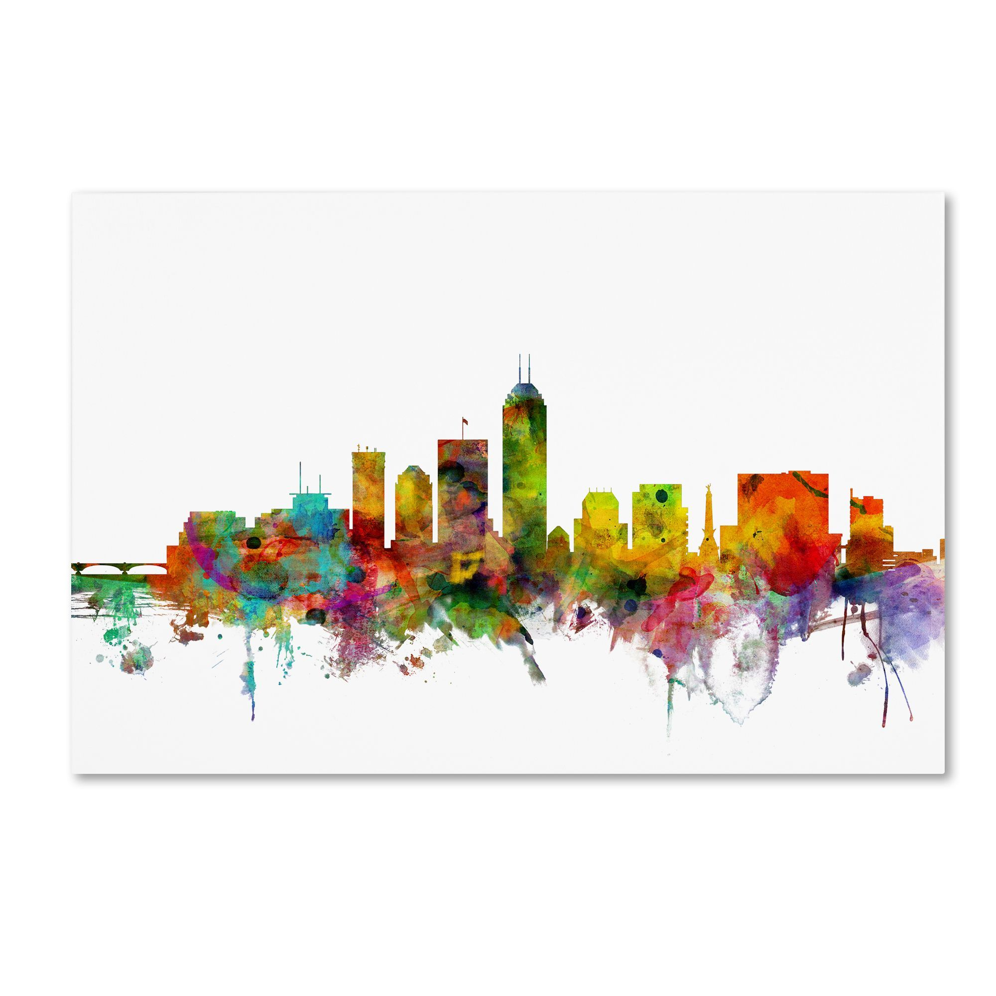 This ready to hang, gallery wrapped art piece features a colorful ...