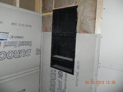 Tile Redi Redi Niche 16 In W X 20 In H X 4 In D Shampoo Soap Standard Double Niche Rn1620d Bi The Home Depot Tile Ready Shower Niche Tile Ready