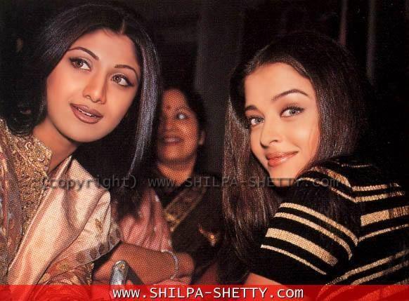 Aishwarya with Shilpa Shetty { both speak