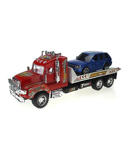 Little Ones Can Set The Car In The Back Of This Tow Truck