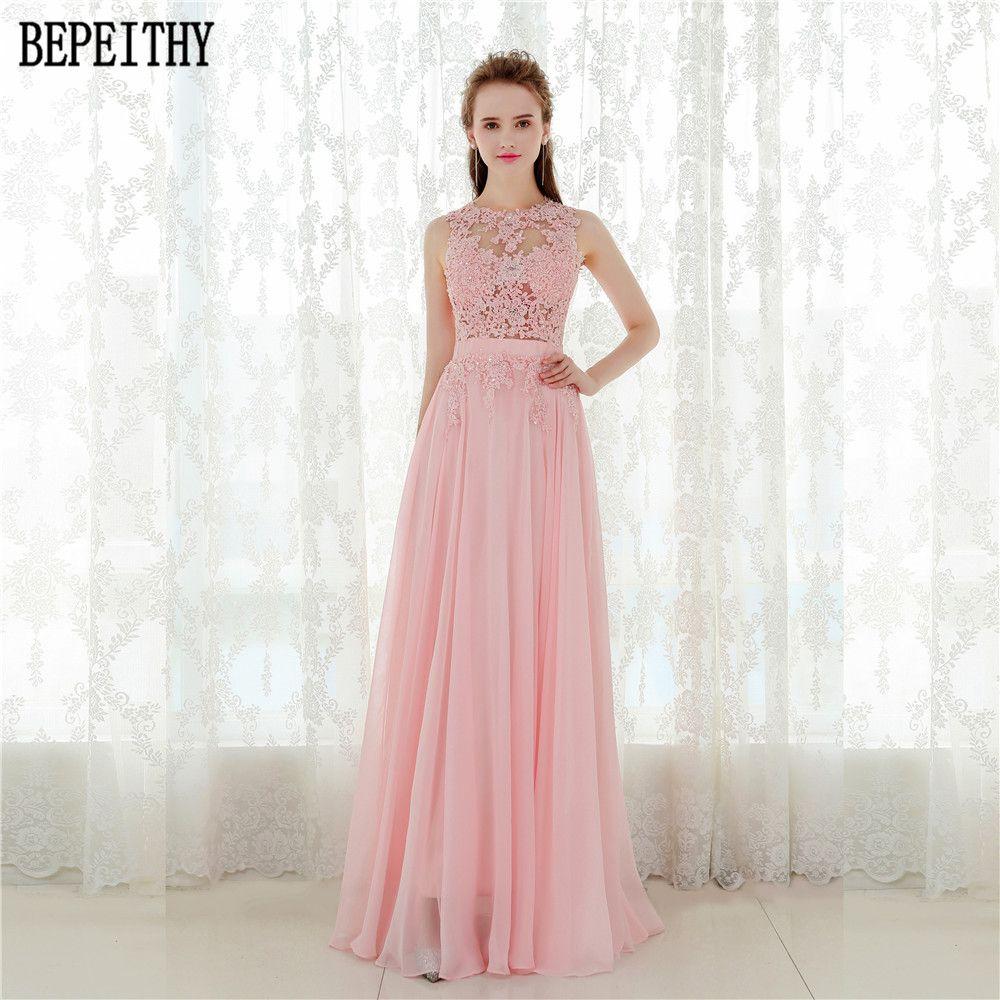 BEPEITHY Elegante Una línea Vestido de Fiesta Sexy Espalda Abierta ...