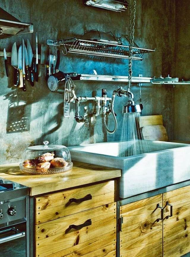 küche-betonwaschbecken-industrial-chic-wasserhahn-armatur