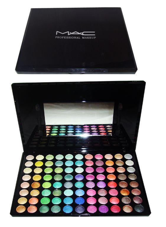 MAC 88 colors eyeshadow pallete shim  I want this!!