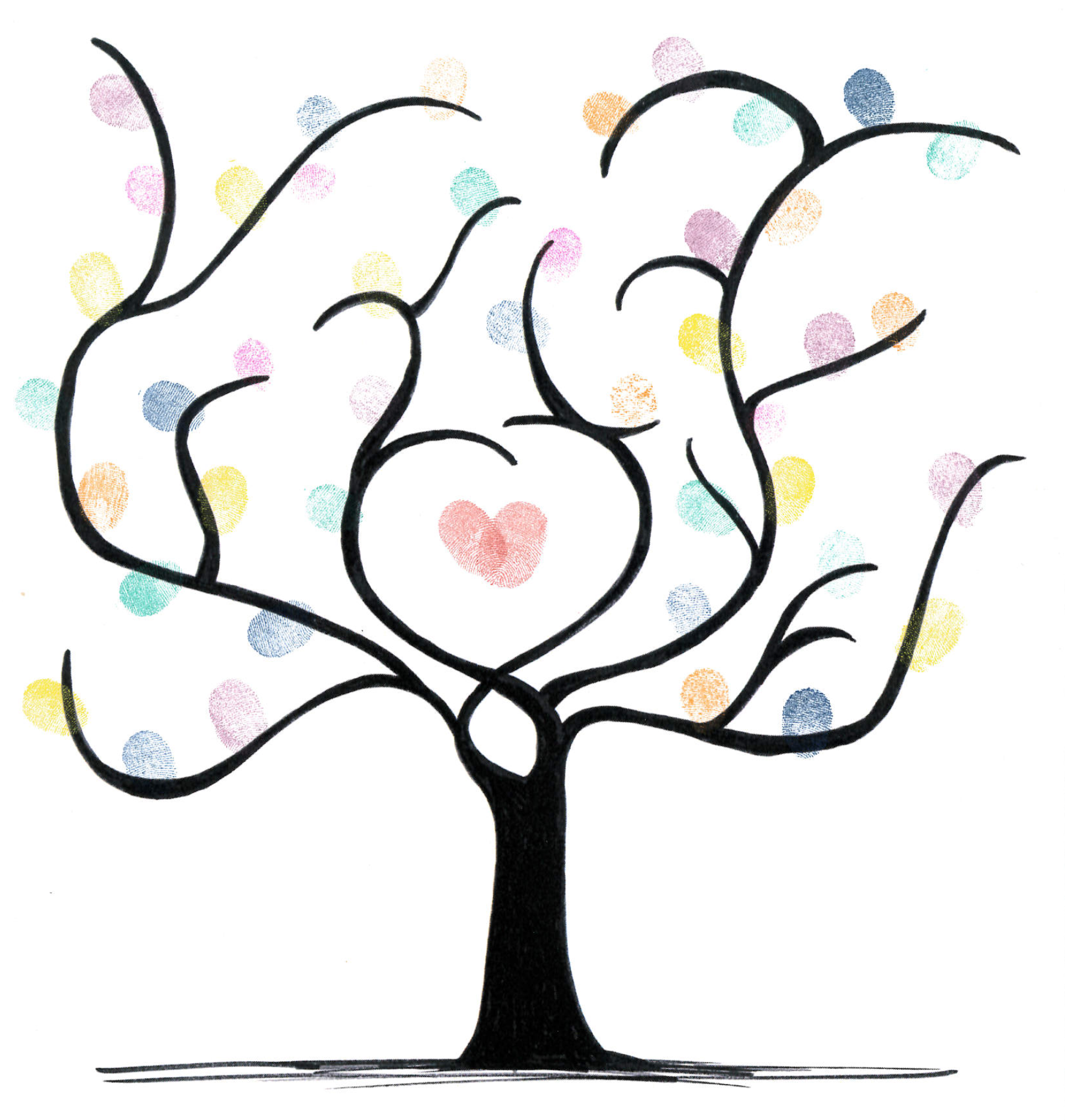 Hochzeit Fingerabdruck Vorlage Kostenlos Free Download Fingerprint Tree Als Gästebuch Especially For You