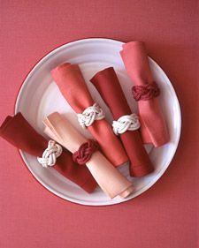 knot napkin rings