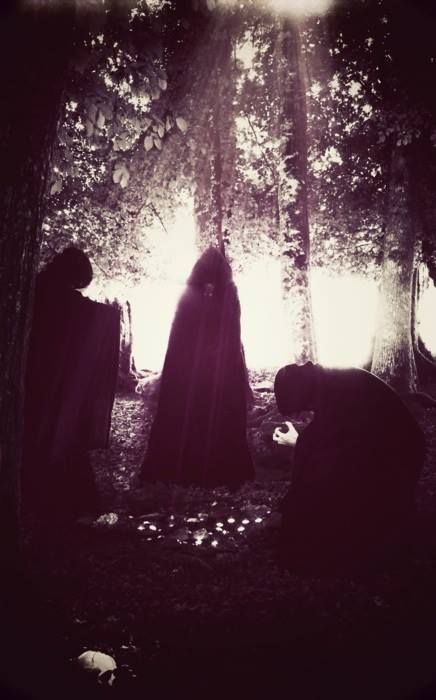 The three witches meet Hecate, the head evil spirit. This reveals the power of the three witches to be insignificant toward controlling fate. This takes place in act 3 scene 5.