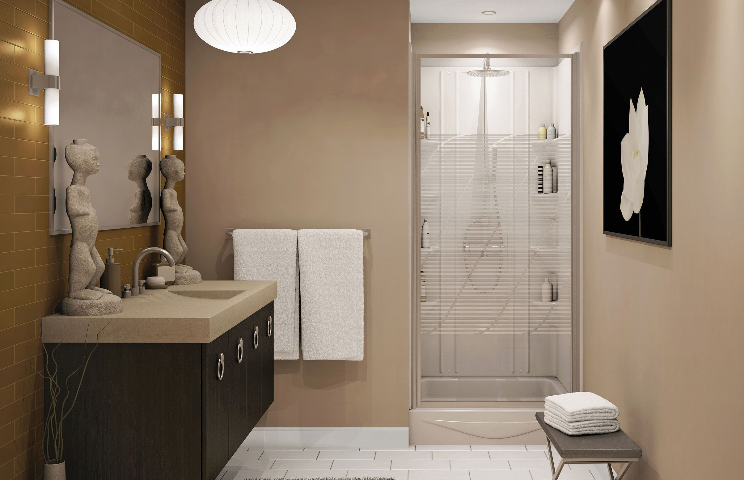 ALLIA SHR-6034 (1-piece) | bath renovation | Pinterest | Alcove ...