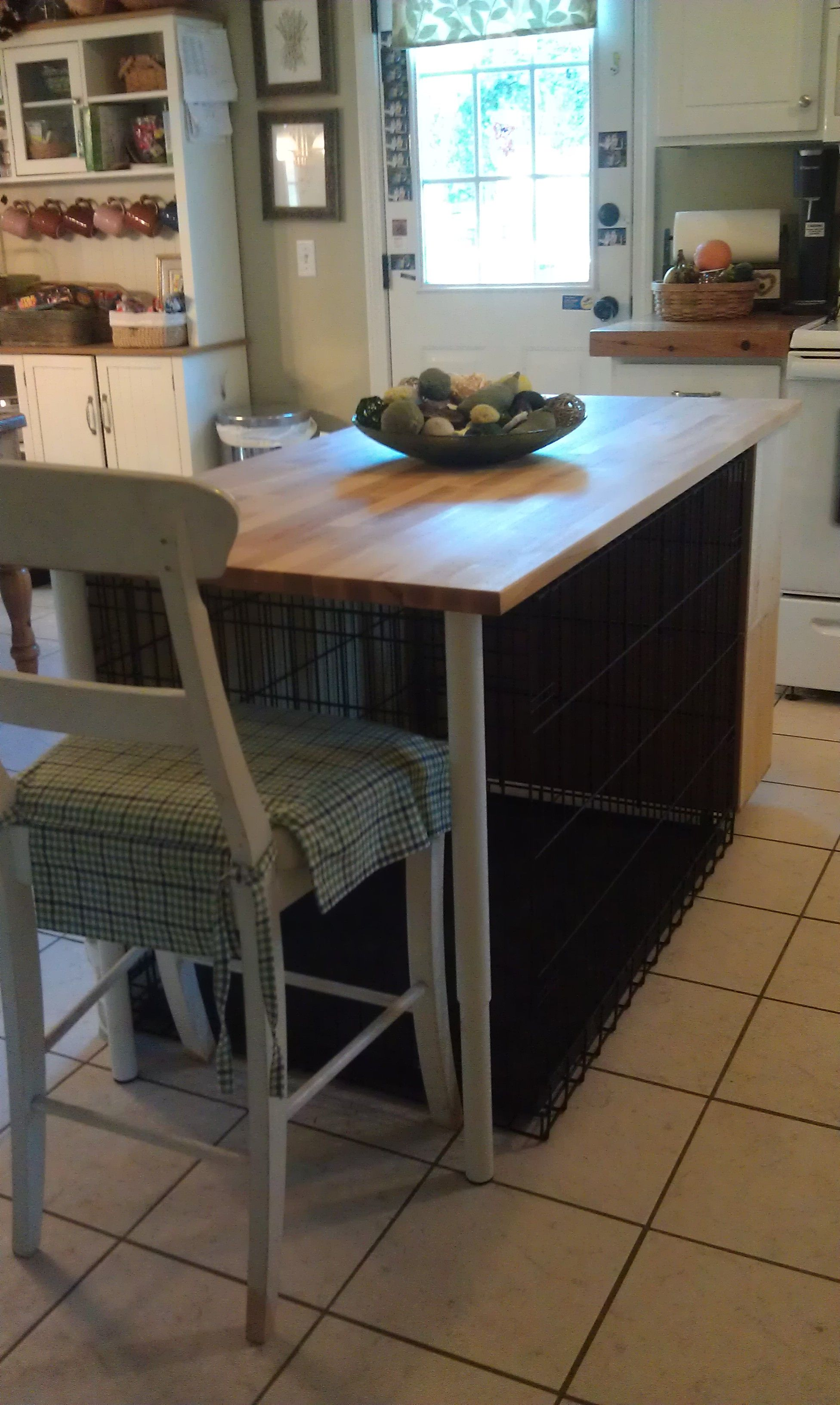 Kitchen Island Dog Crate I Built It In 2019 Dog Crate